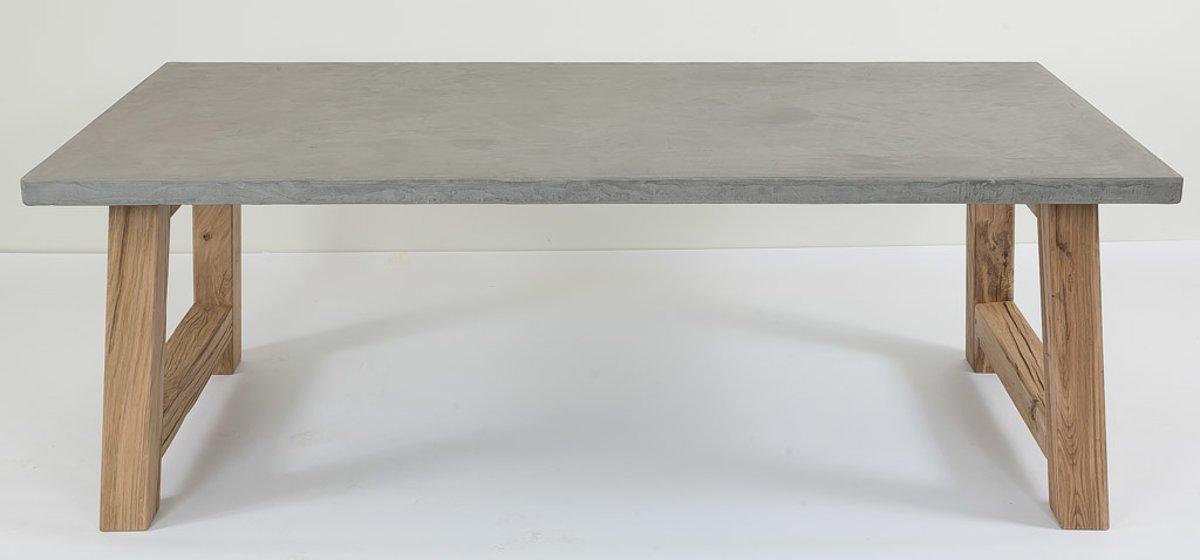 Salon Tafel Leisteen.Tafel Ardenne Met Eiken Poot In Leisteen Naturel Grijs 200 X 100 Cm