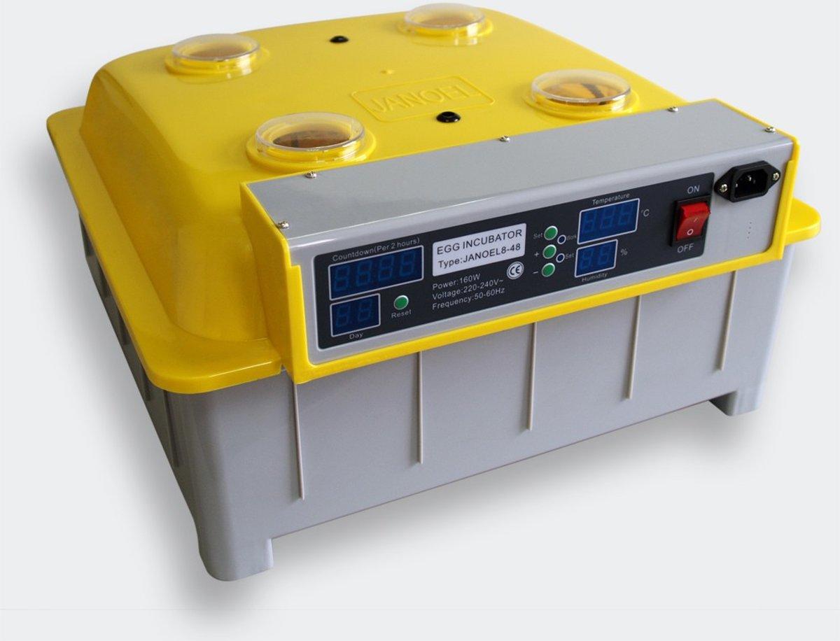 Broedmachine met keersysteem voor 48 eieren. DiekoJN48