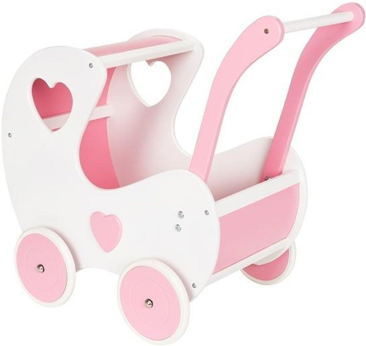 Broozzer houten poppenwagen Retro - wit