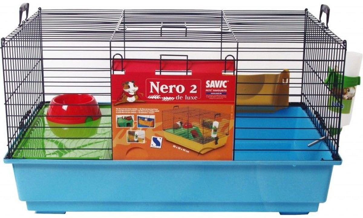 Savic konijnenkooi nero 2 compleet blauw