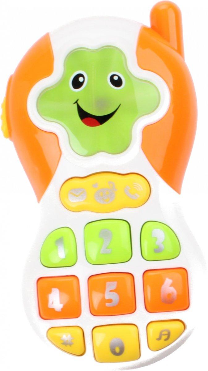 Jonotoys Speelgoedtelefoon 12,5 Cm Wit/oranje