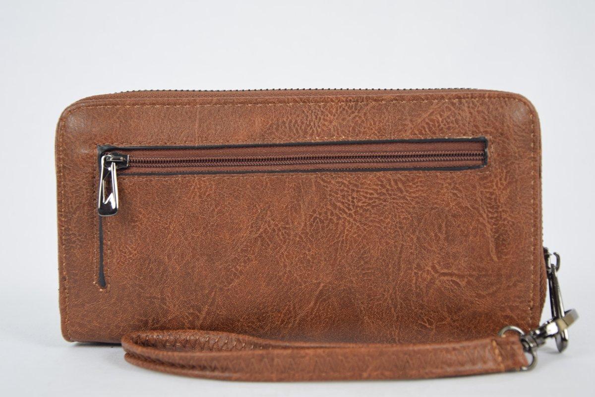 d5c5321573a bol.com | Enrico Benetti portemonnee met telefoonvak cognac