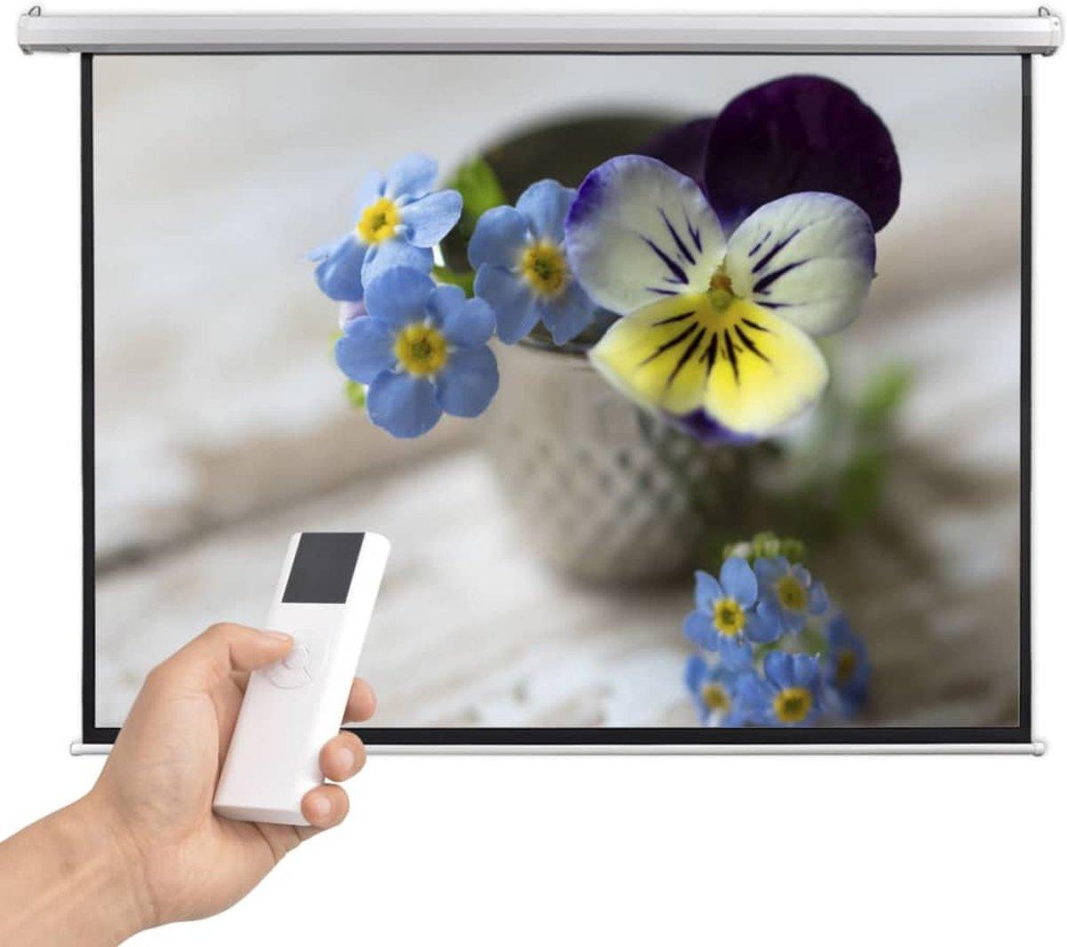 vidaXL Projectiescherm met afstandsbediening elektrisch 200x153 cm 4:3 kopen