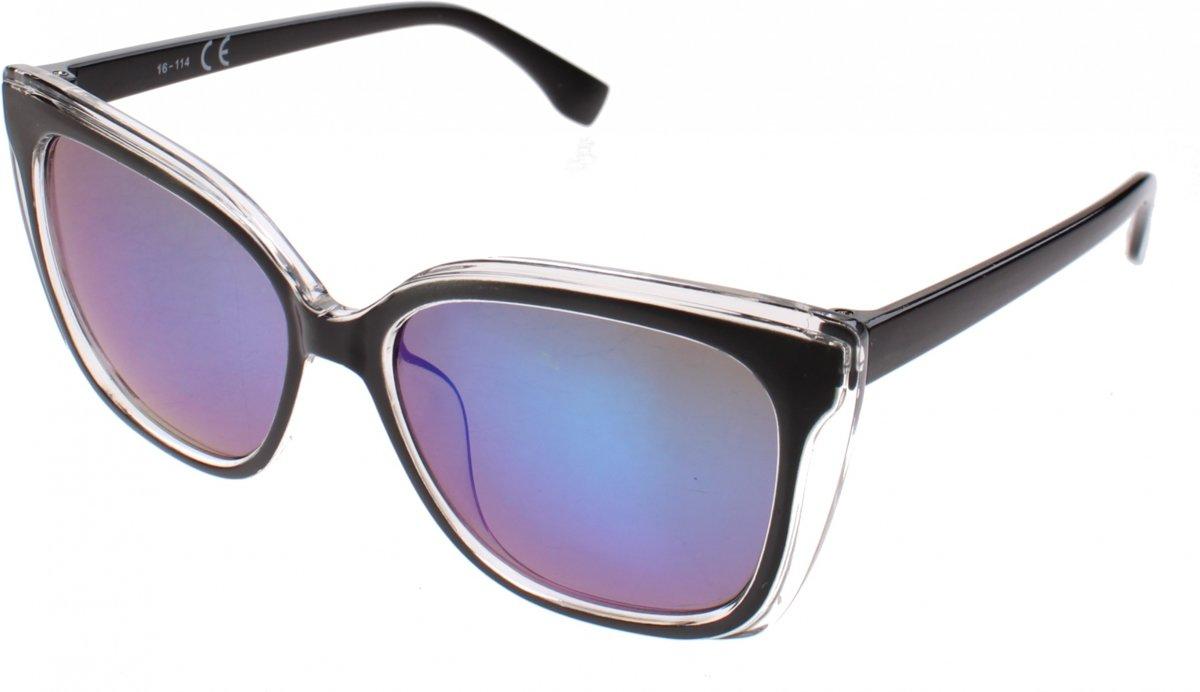Kost Zonnebril Dames Zwart Met Blauwe Lens (16-114)