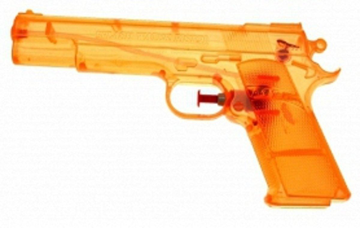 Oranje speelgoed waterpistool 20 cm