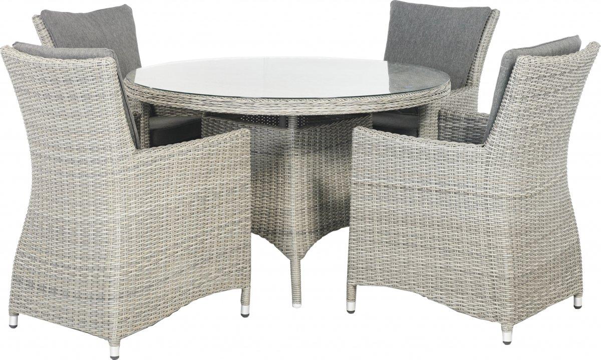 Tuinset Villa Basic Plus 5-delig weathered grey kopen