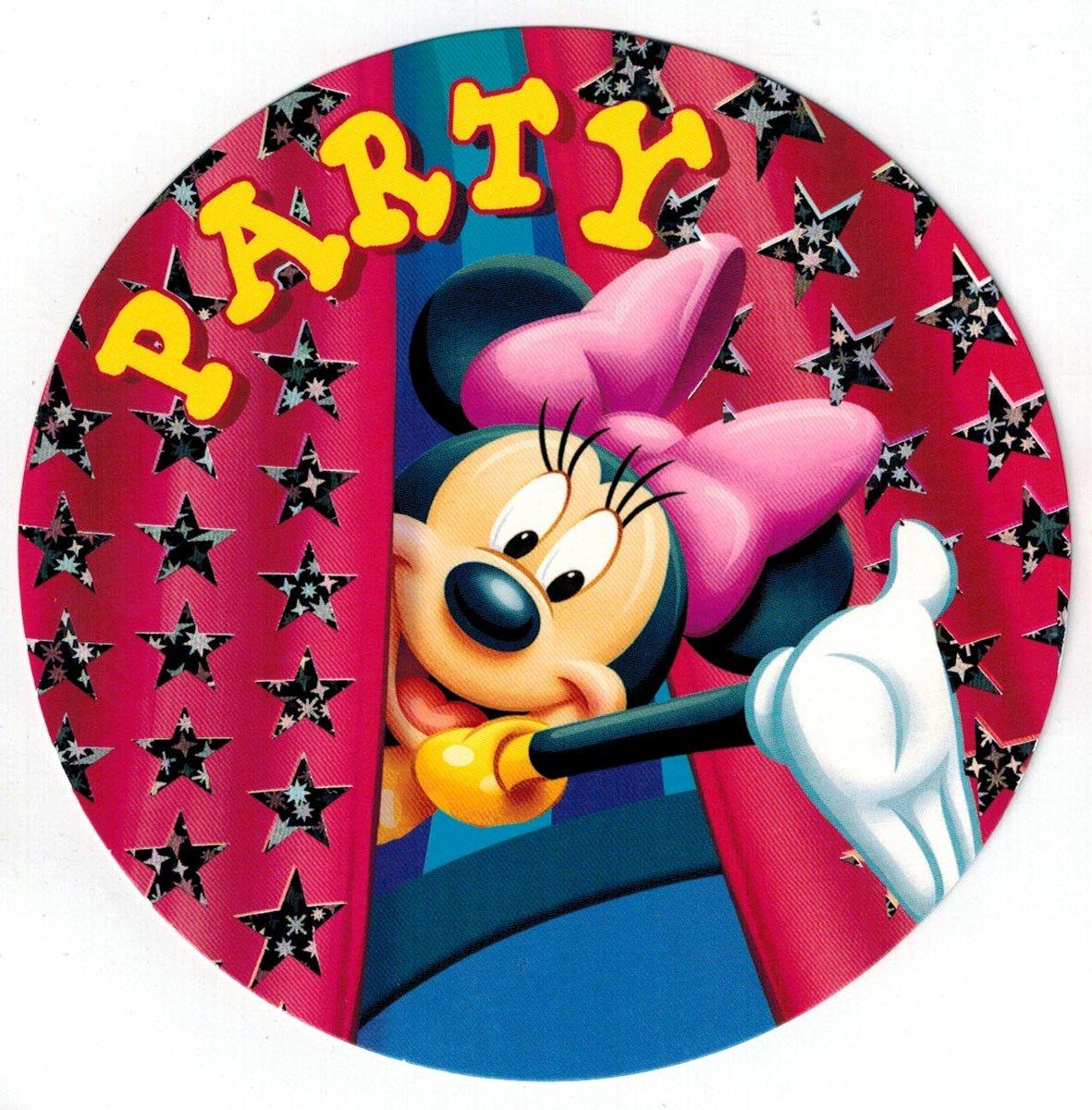 Uitnodigingen Disney Rond - Minnie mouse