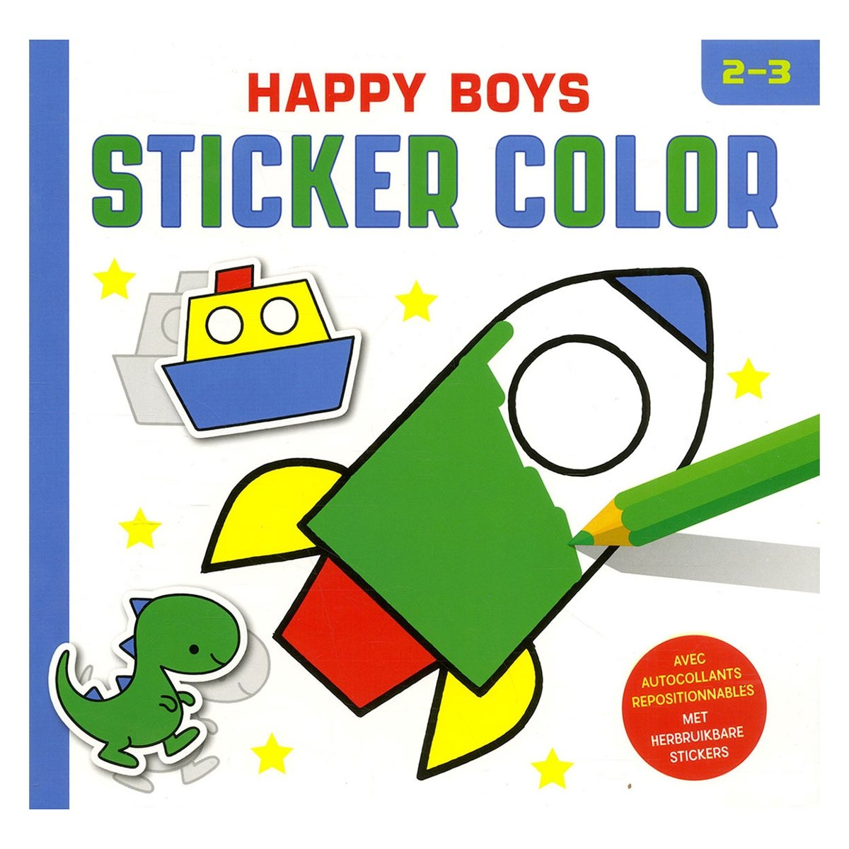 | Happy boys sticker color (2 3 j.), ZNU