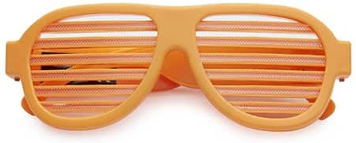 LED shutter bril deluxe   oranje kopen