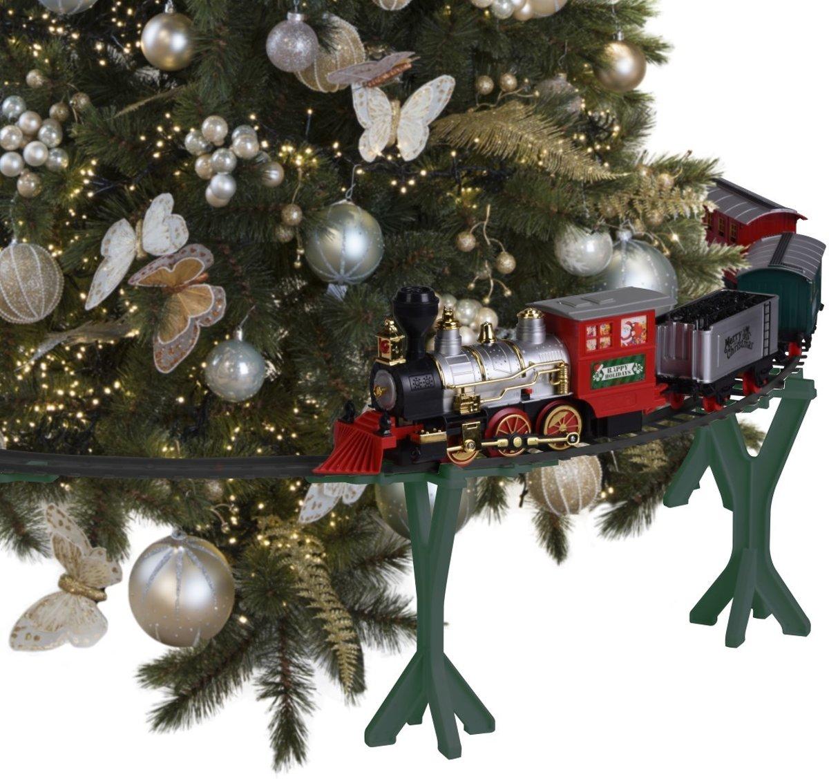 Kersttrein met licht en geluid kopen