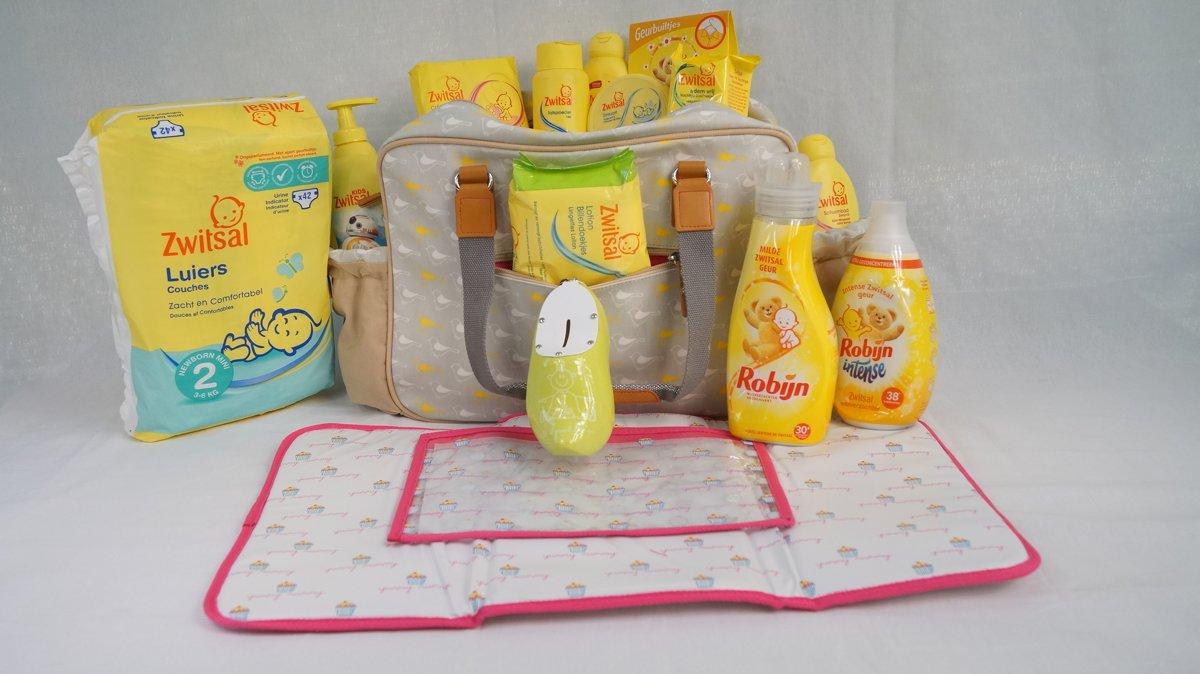 Babygeschenkset met Zwitsal wasmiddelen, shampoo's en meer