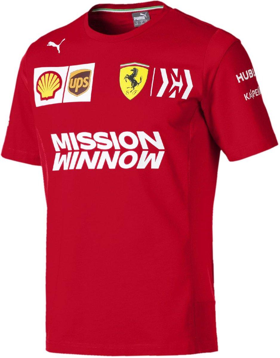 PUMA Scuderia Ferrari Team Tee Shirt Heren - Rosso Corsa