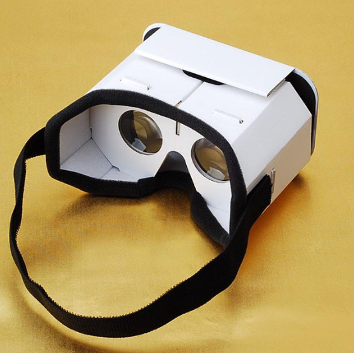 Kartonnen VR Bril - Virtual Reality Bril - VR Bril Voor Smartphone - 3D VR Bril - 3,5 Tot 6 Inch - Wit kopen