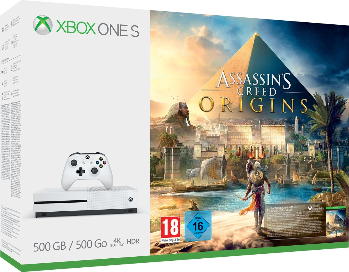 Xbox One S Assassin's Creed Console - 500 GB voor €169