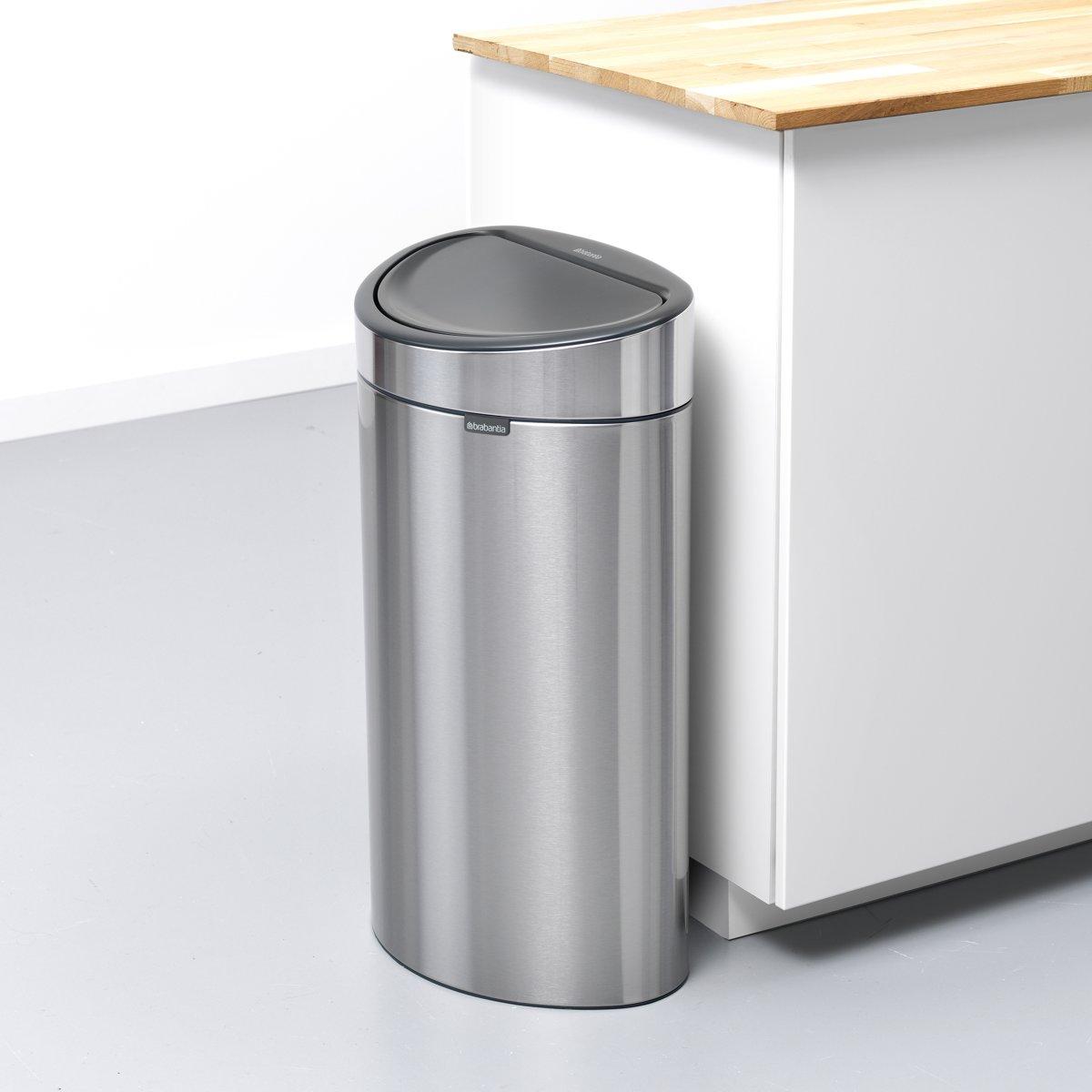 Brabantia Touch Bin Rvs.Bol Com Brabantia Touch Bin Recycle Prullenbak 10 23 L Matt Steel