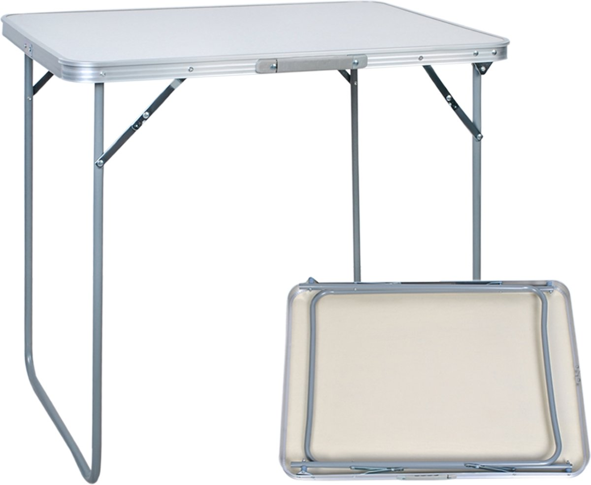 Aluminium Klaptafel Rechthoek - Opklapbare Campingtafel Eettafel - Inklapbare Opvouwbare Camping/Picknick/Balkon Tafel Vouwtafel - 80x60 CM kopen