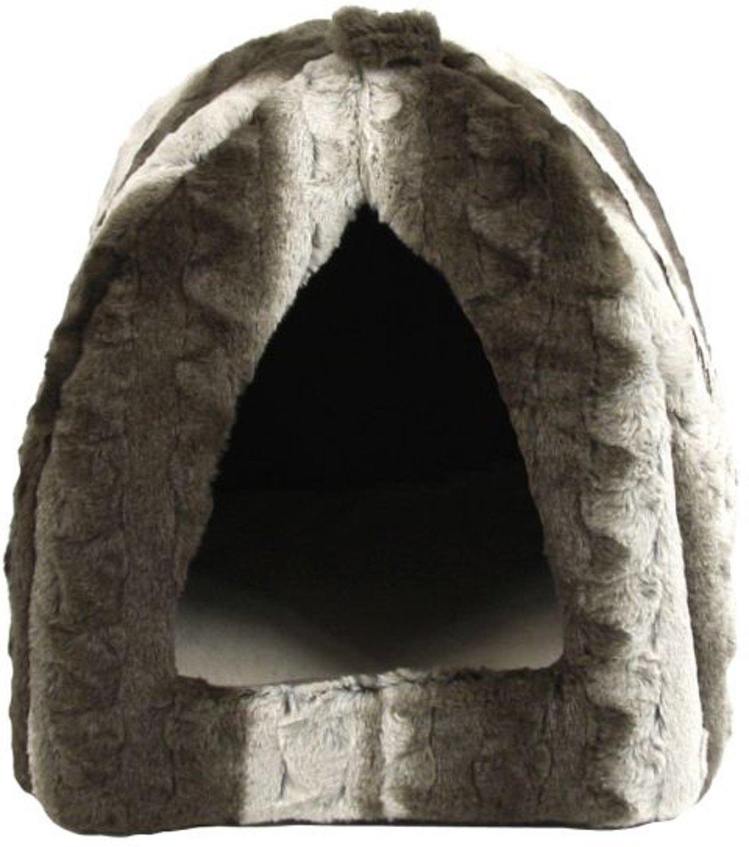 Rosewood 40 Winks Iglo Snuggle - Kattenmand - Grijs / Creme - 40x40x35 cm