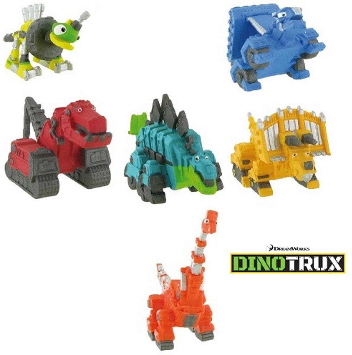 Dinotrux 6 figuurtjes Dreamworks +/- 7 cm (Let op: Wielen Rijden niet) kopen