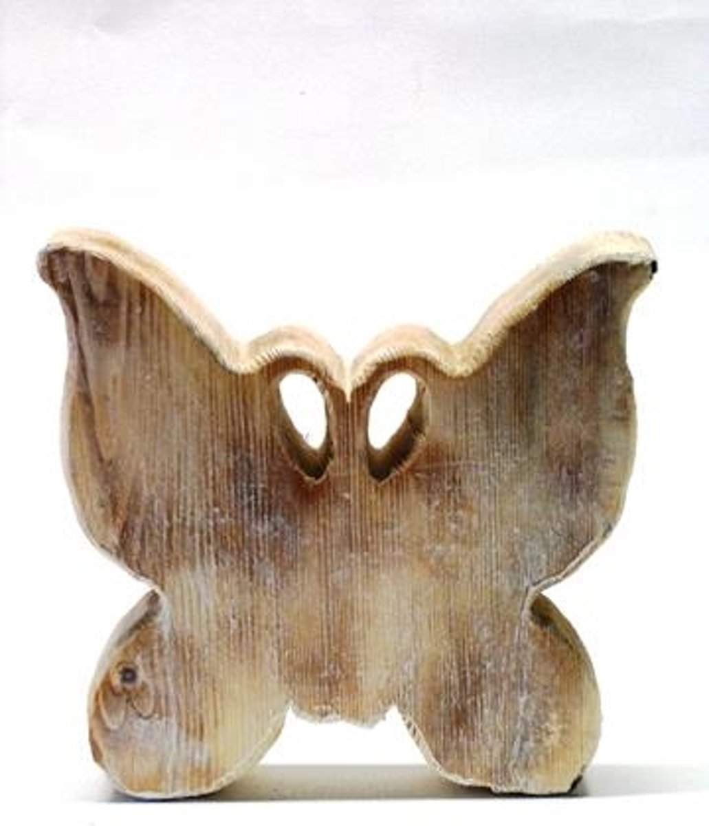 Vlinder hout 22x17x4cm kopen