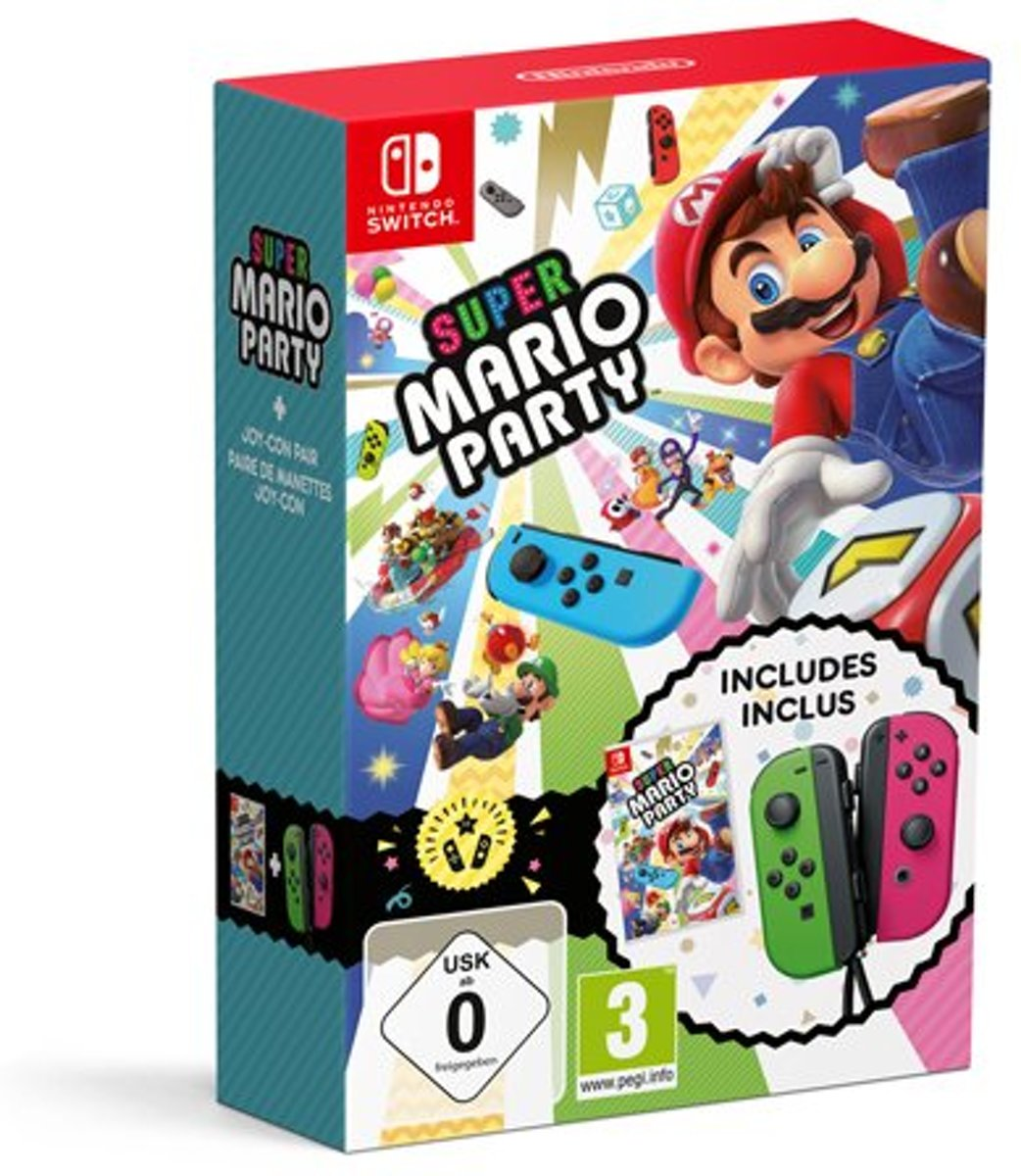 Nintendo Super Mario Party bundel + Joycon controllers - Switch