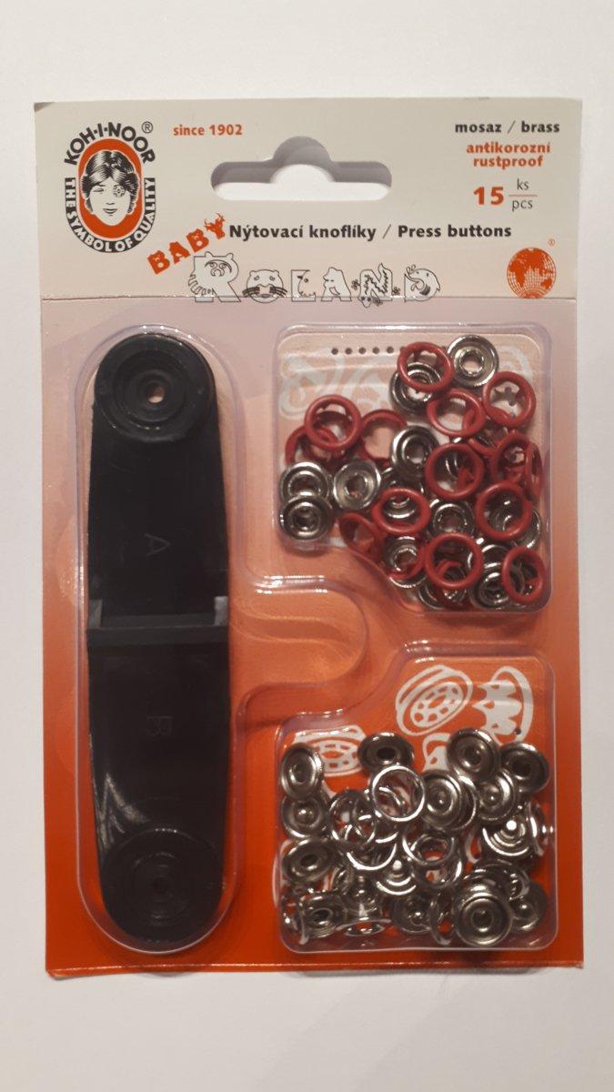 Babydrukkers pink. Open ronde drukknopen. 10mm doorsnee.