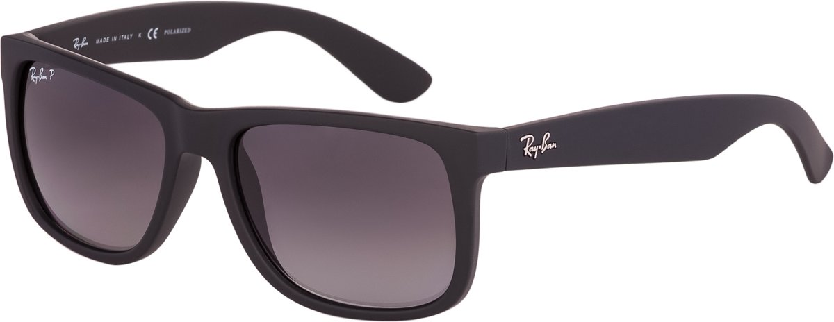 Ray-Ban RB4165 622/T3 - Justin (Classic) - zonnebril - Zwart/Grijs gradiënt - Polarized - 55mm kopen