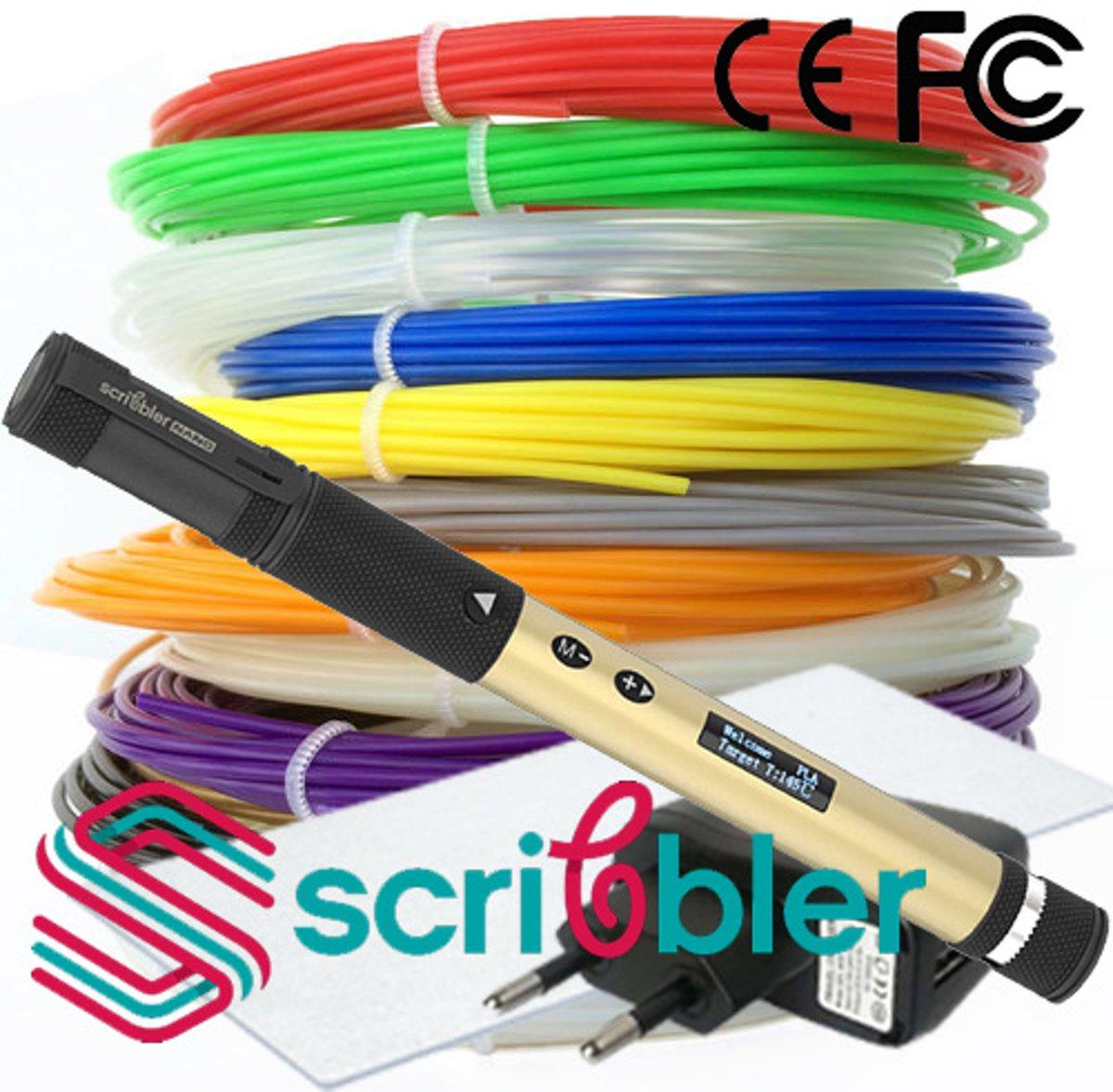 Set: Scribbler NANO 3d pen! Model 2019!  12x10m+ CLIPS + TIPS + 3DPAD