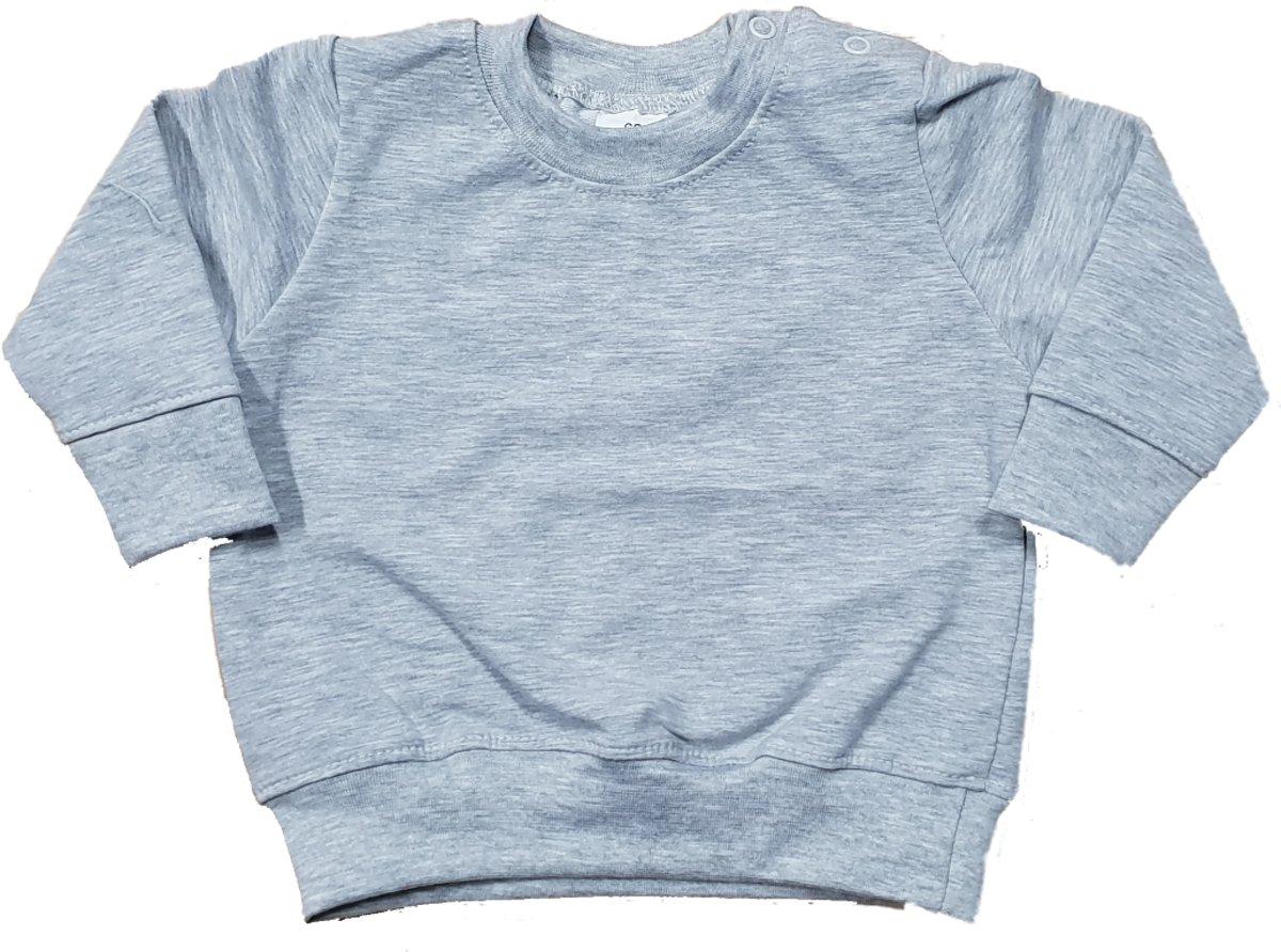 Basic Babykleding.Bol Com Little Olivia Basic Sweater Trui Baby Maat 62 68 Zwart