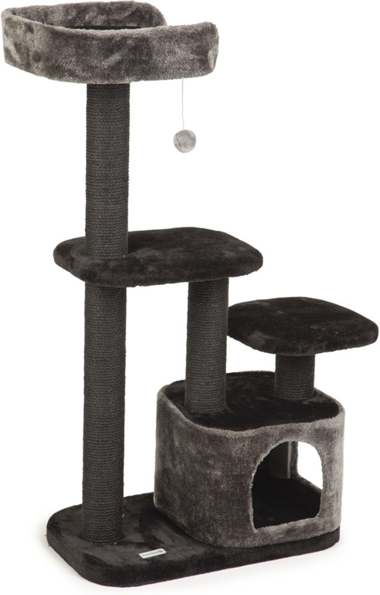 Beeztees Poronti - Krabpaal - Zwart - 60x40x115 cm