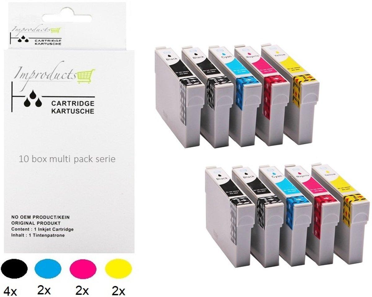 Improducts® Inktcartridge Alternatief Epson 18xl 10 box Multipack inktcartridges,  4x zwart T1811, 2x cyaan T1812, 2x magenta T1813, 2x geel T1814 = 10 box multi pack kopen
