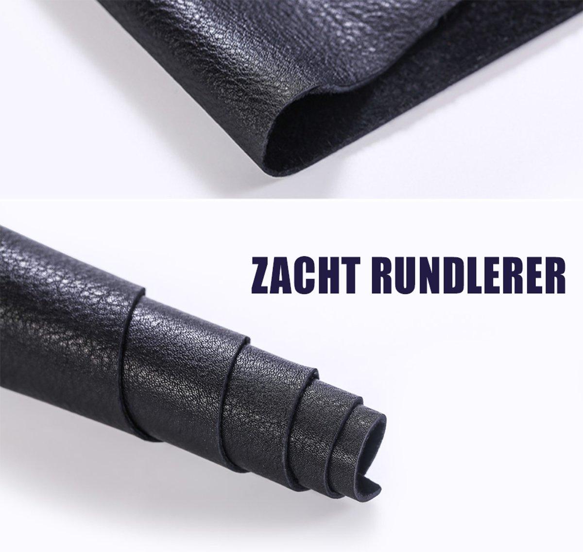 Zwart leer -4 voet- Echt Leer-Rundleder