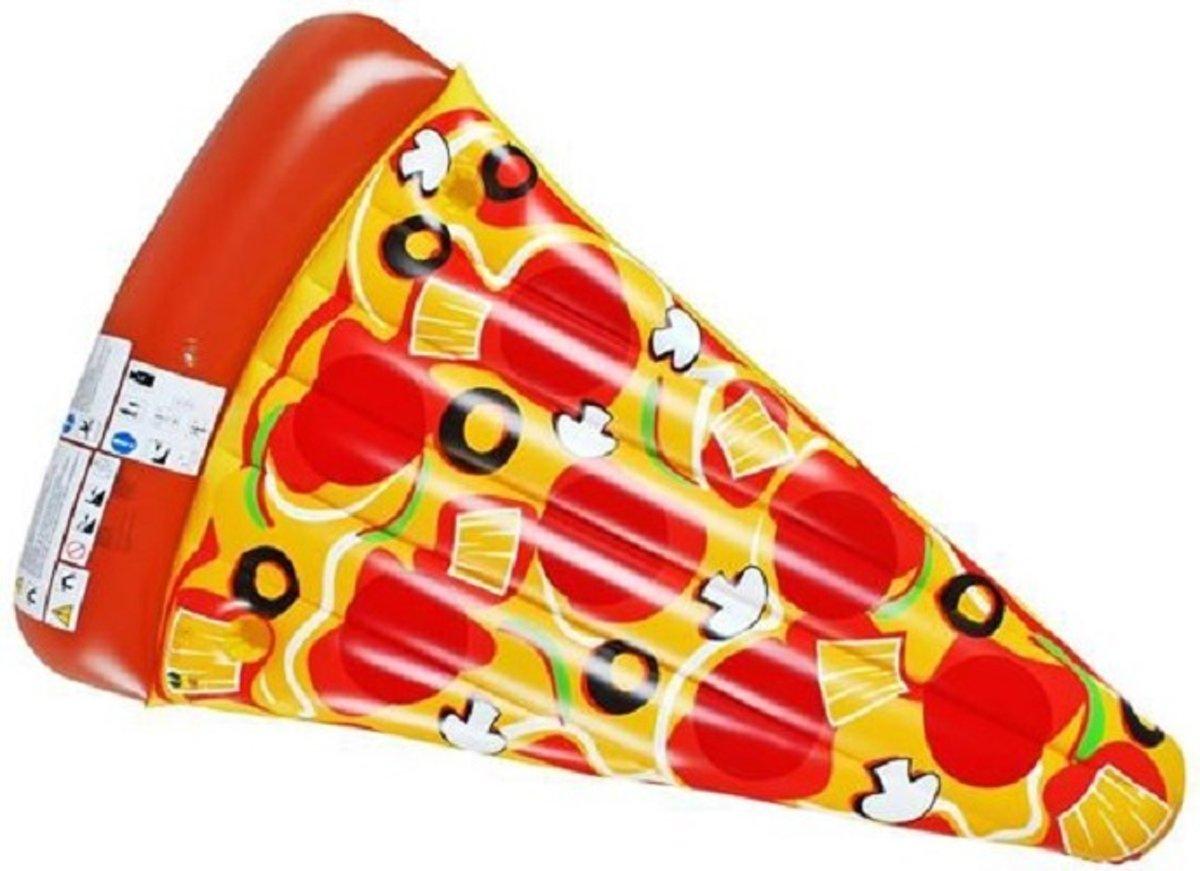 Opblaasbare Pizzapunt Luchtmatras - Opblaas Zwembad Speelgoed Ligbed - Ride-On Drijvend Pizza Luchtbed