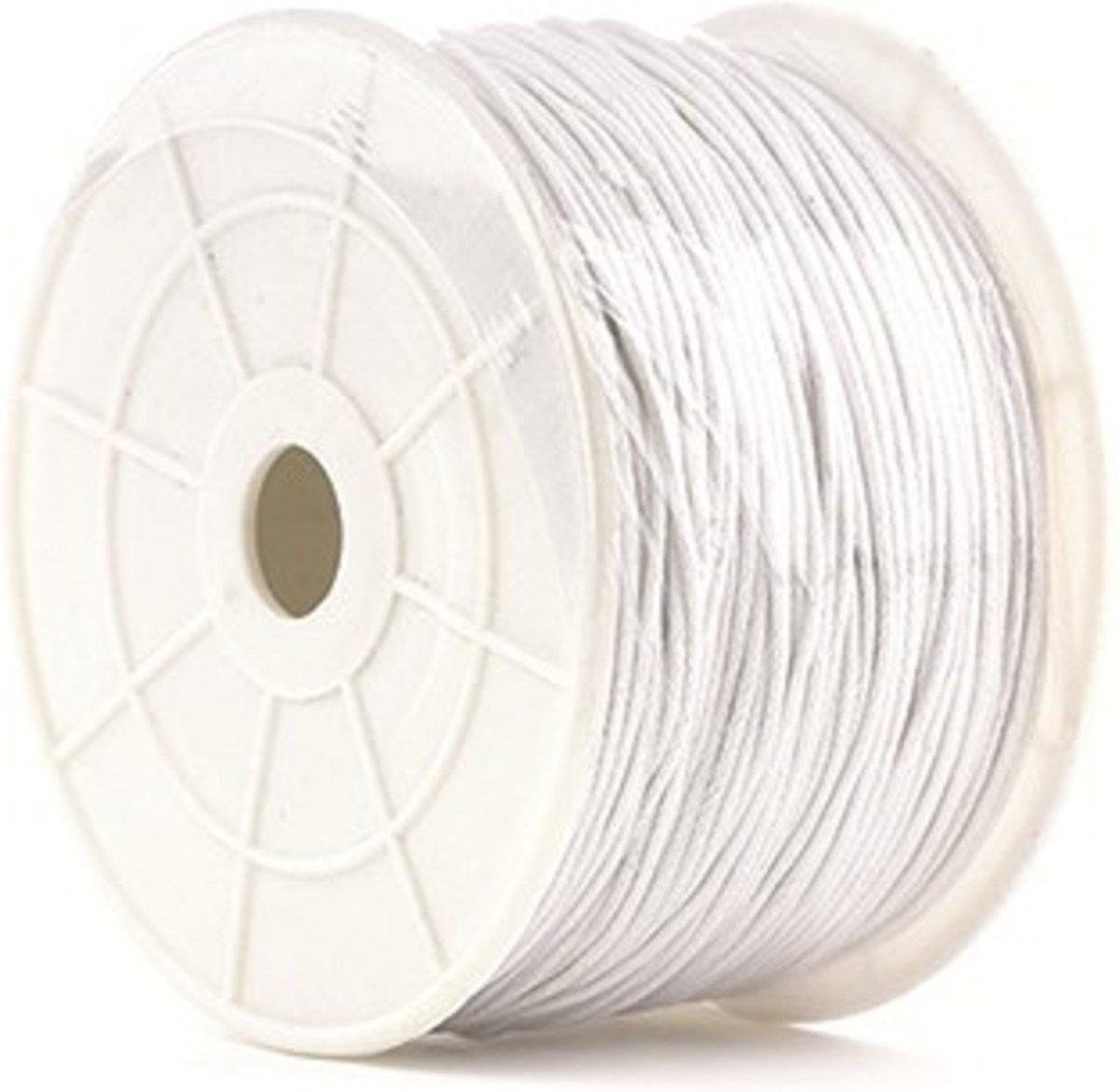 Waskoord Rol Wit (100 meter - 1 mm) kopen