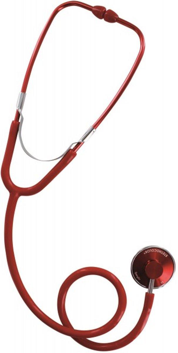 Spengler Stethoscoop Stethocolor Single Head Rood