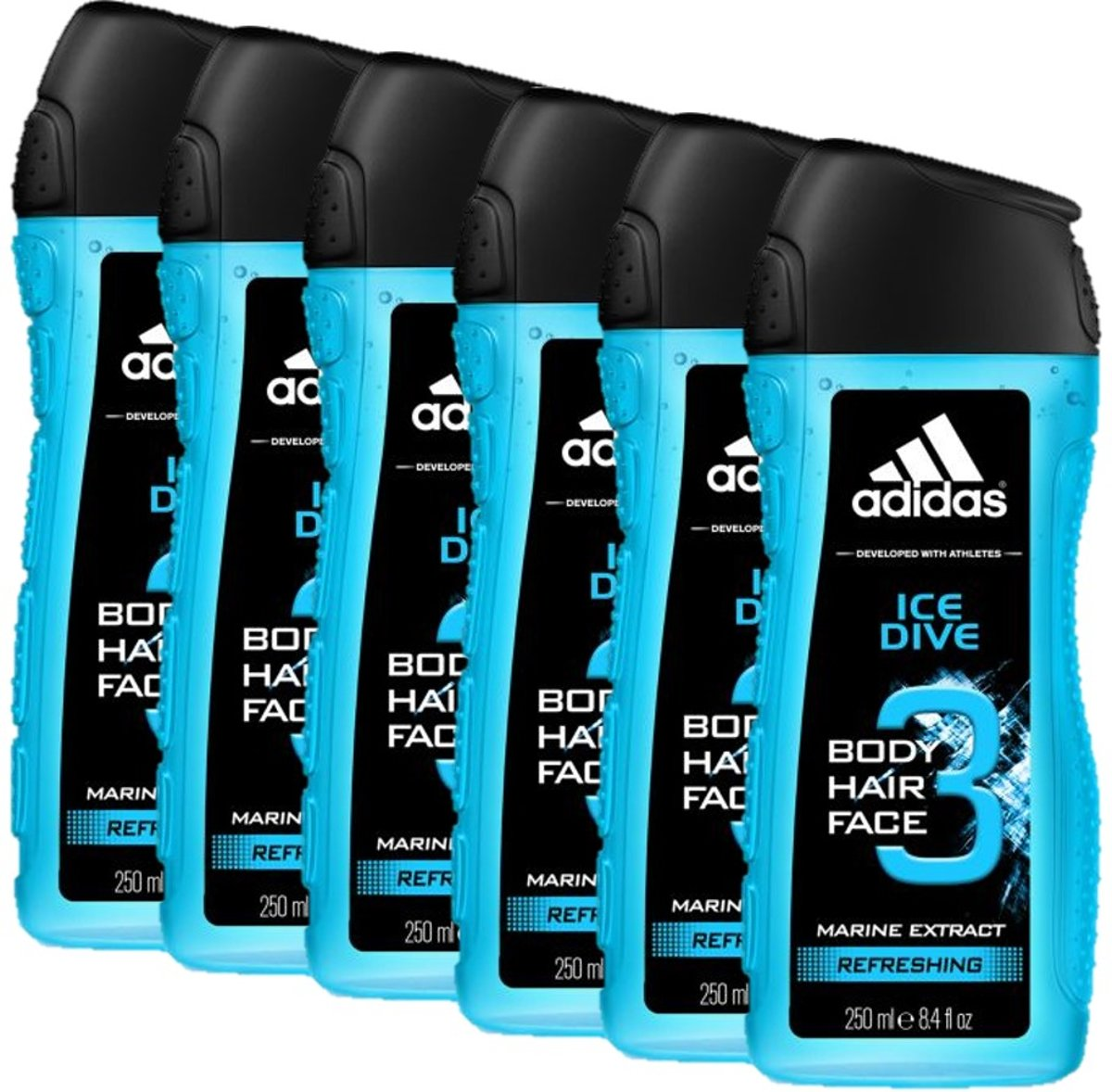 Adidas Douchegel 3 in 1 Ice Dive 6 x 250 ml
