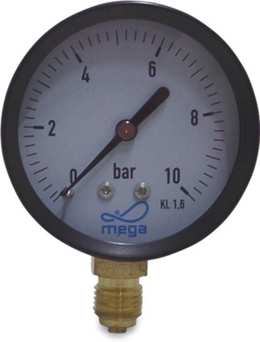 Manometer 0 -4 bar ˜ 63mm onderaansluiting