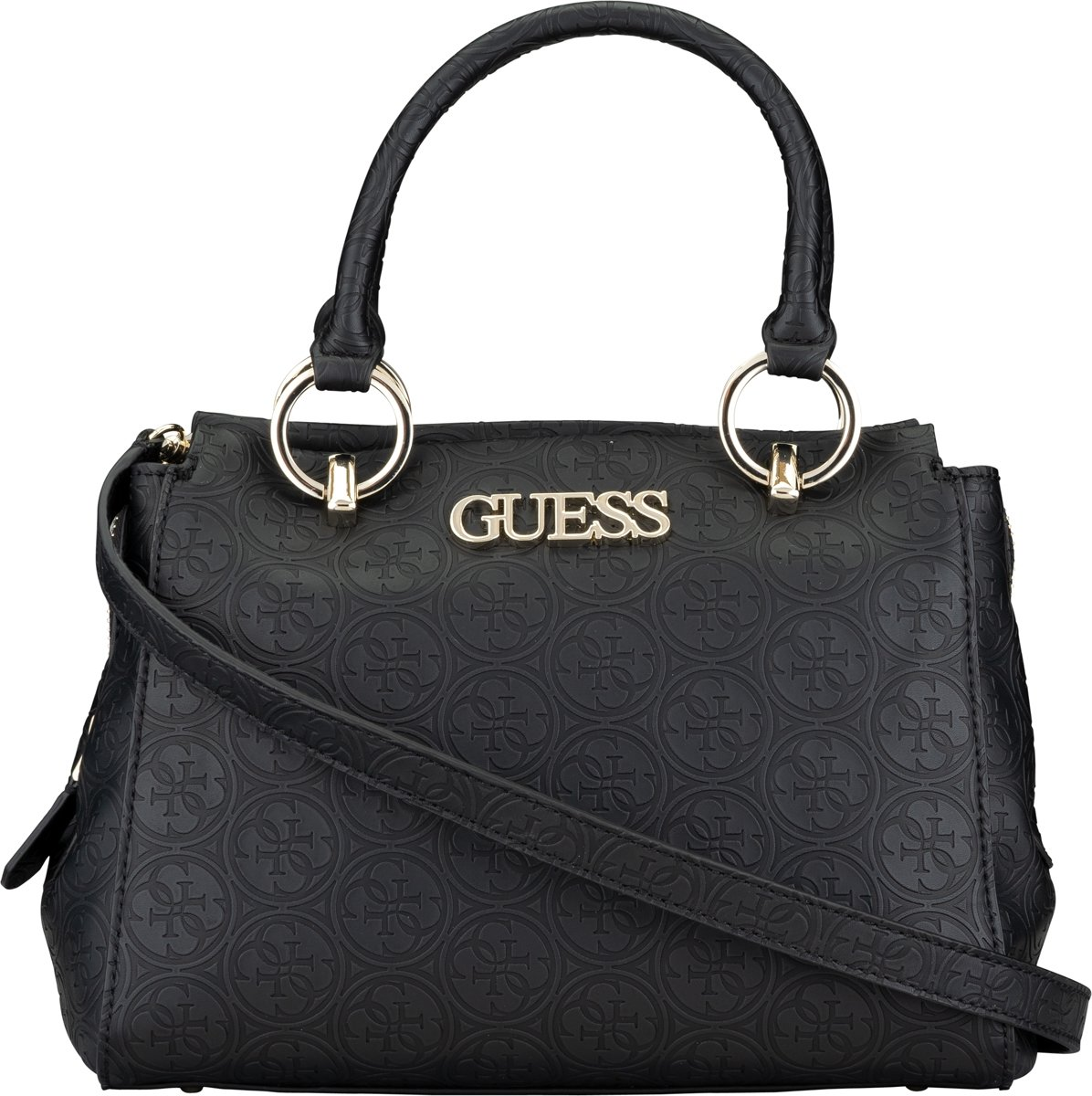 Guess Heritage Pop Girlfriend Dames Handtas Black