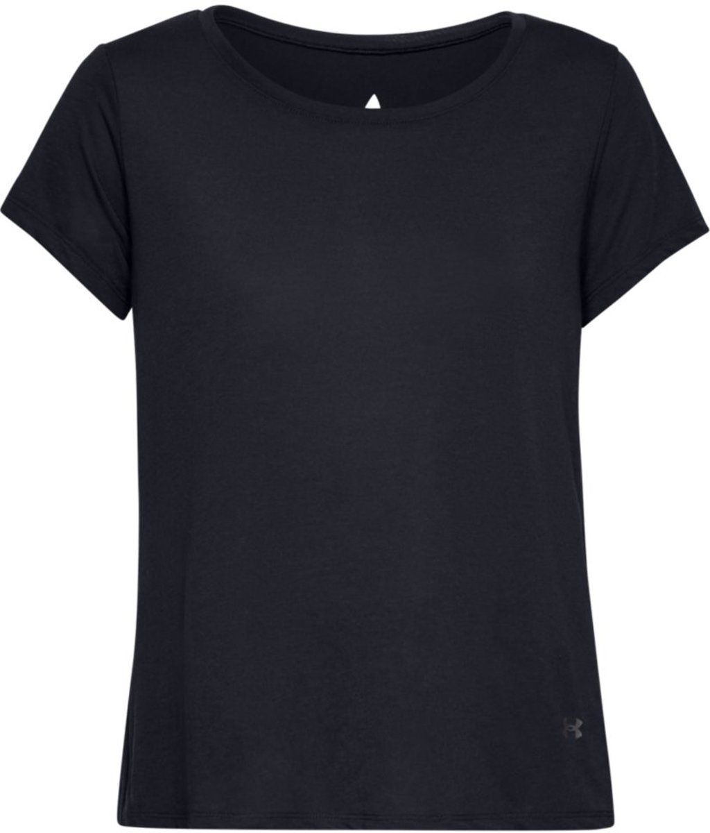 Under Armour Whisperlight Foldover Sportshirt Dames - Zwart - Maat XS kopen