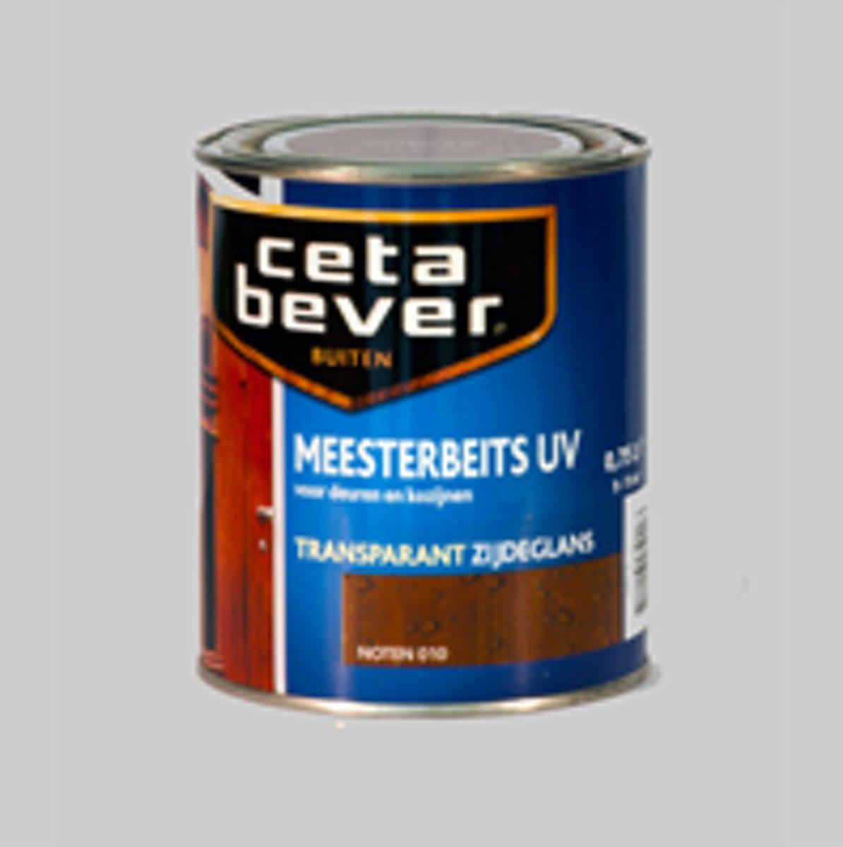 Cetabever Meesterbeits UV Transparant Noten 010 Zijdeglans - 3 x 0,75 Liter