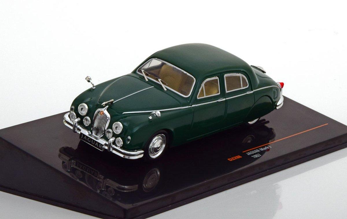 Jaguar Mark 1 1957 Donkergroen 1-43 Ixo Models
