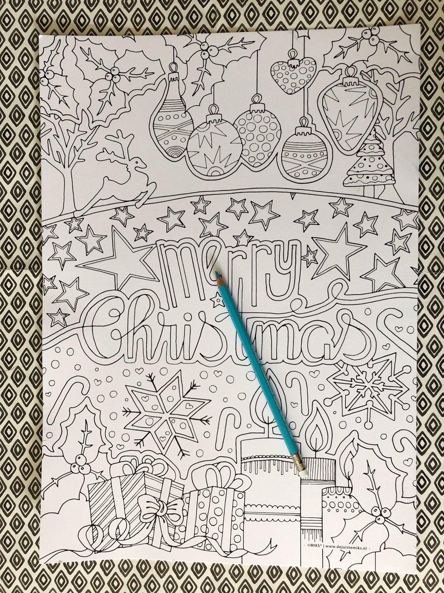 Kleurplaten Kerst A4 Formaat.Bol Com Xl Kleurplaat Kerst A3 Formaat Miks Grafisch Ontwerp