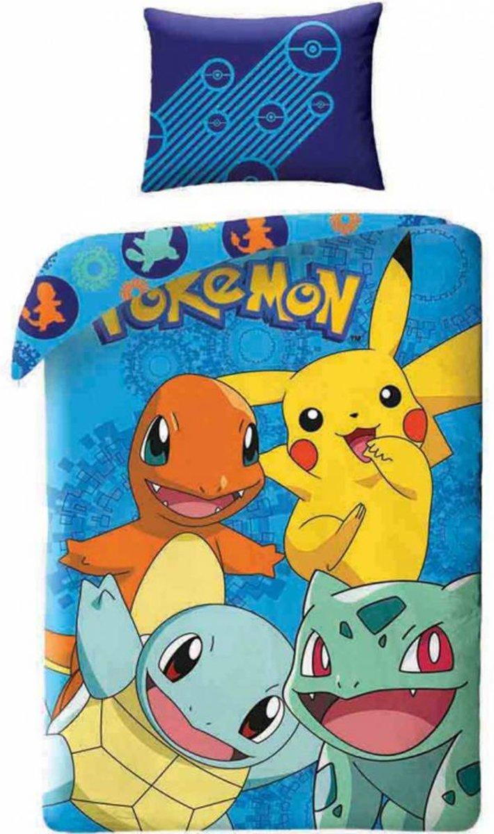 Pokémon Powerteam - Dekbedovertrek - Eenpersoons - 140 x 200 cm - Multi kopen