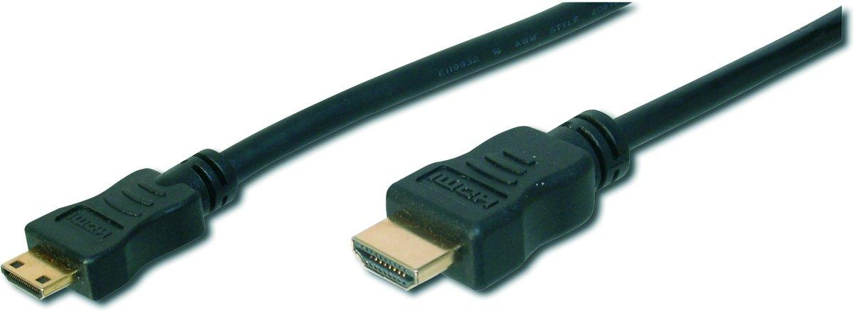 ASSMANN Electronic AK-330106-030-S HDMI kabel 3 m HDMI Type A (Standard) HDMI Type C (Mini) Zwart kopen