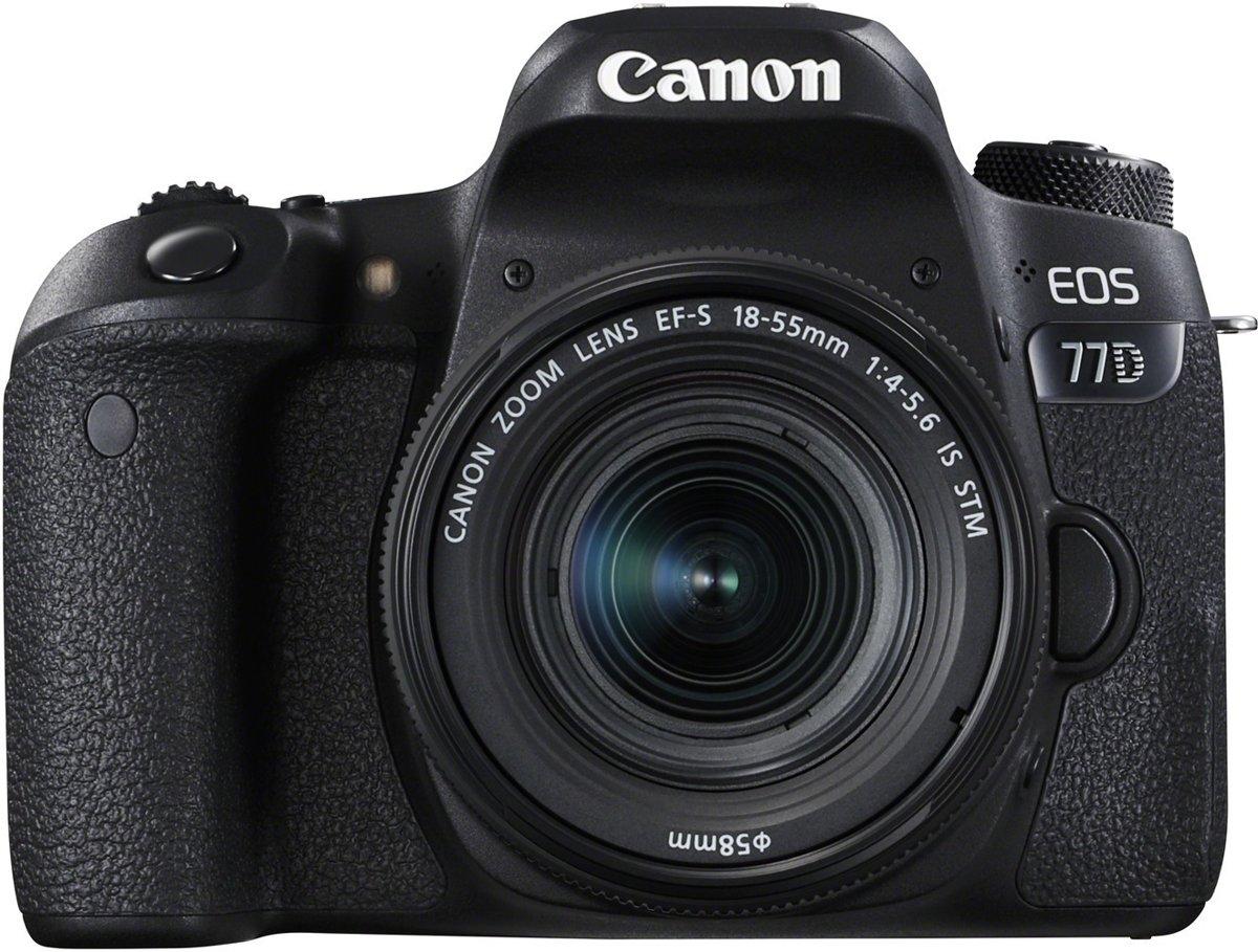 Canon EOS 77D + 18-55mm IS - Zwart