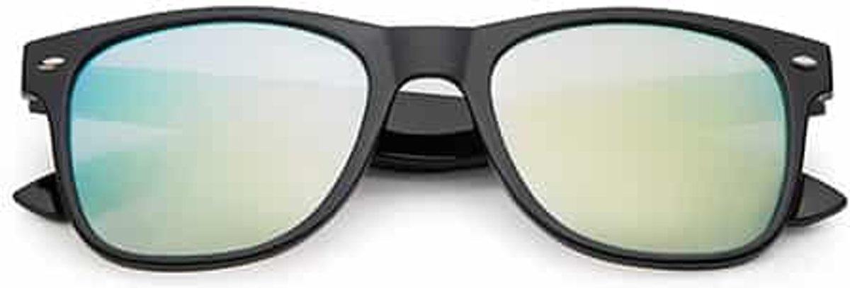 Spacebril spiegel goud-zilver | zwart kopen