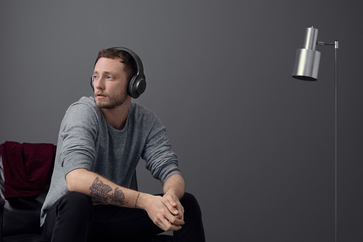 Sony Hear Mdr 100abn Draadloze Hi Res Audio Over Ear On Wireless Noice Cancelling Headphone Blue Koptelefoon Met Noise