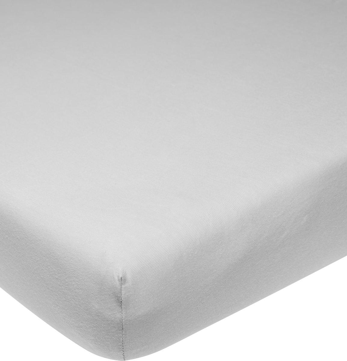 Meyco jersey hoeslaken - 60x120 cm - lichtgrijs