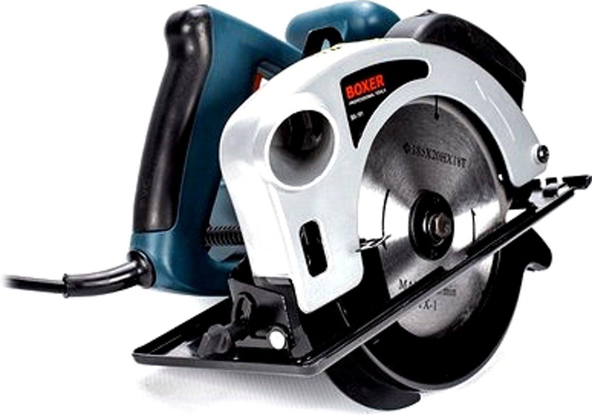 BOXER BX-191 Cirkelzaag 2650 W - 63 mm - Inclusief zaagblad - met laser
