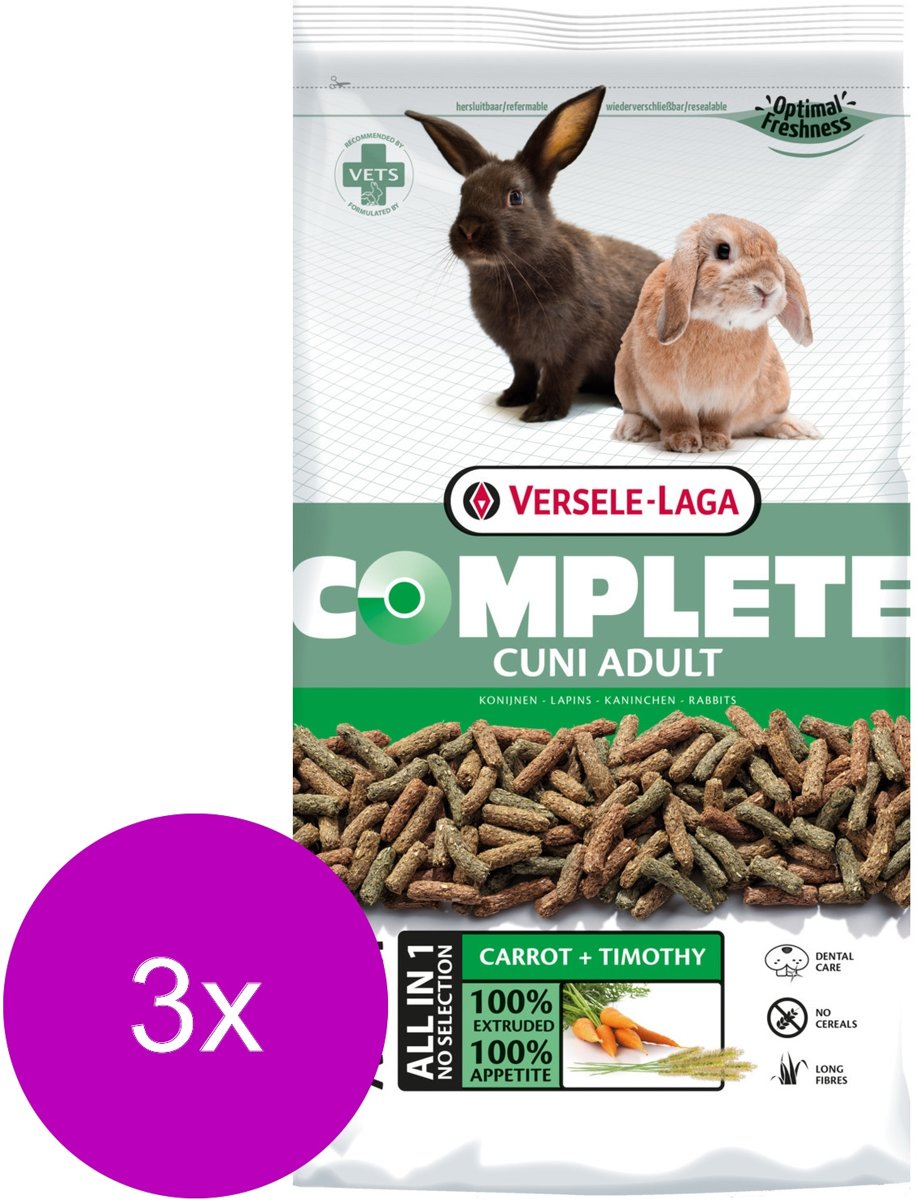 Versele-Laga Complete Cuni Adult - Konijnenvoer - 3 x 1.75 kg