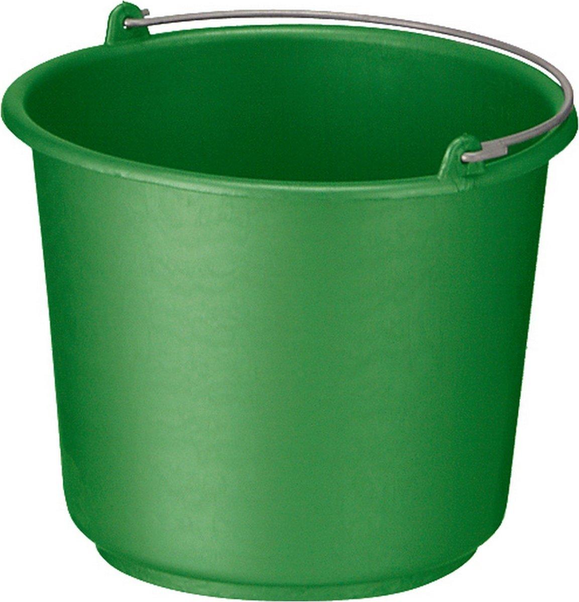 Bouwemmer met hengsel 12 liter groen 12st kopen